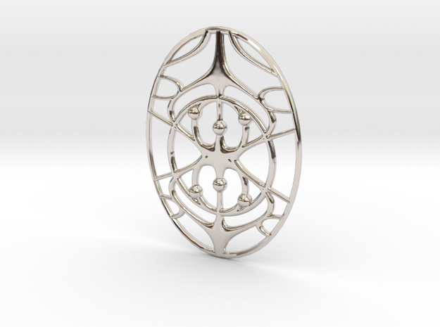 InvYy Pendant in Rhodium Plated Brass