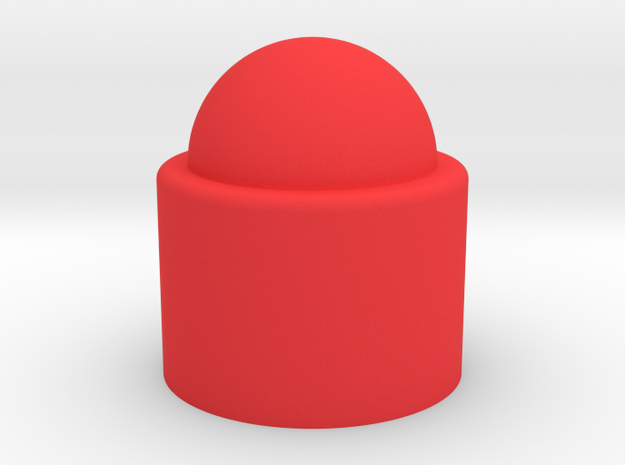 Stackable Circle in Red Processed Versatile Plastic