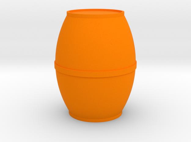Round Single-Band Barrel Game Piece in Orange Processed Versatile Plastic
