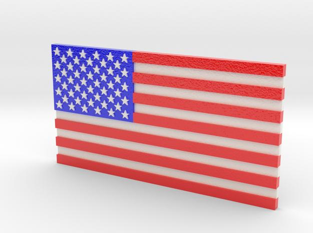 US Flag in Full Color in Glossy Full Color Sandstone