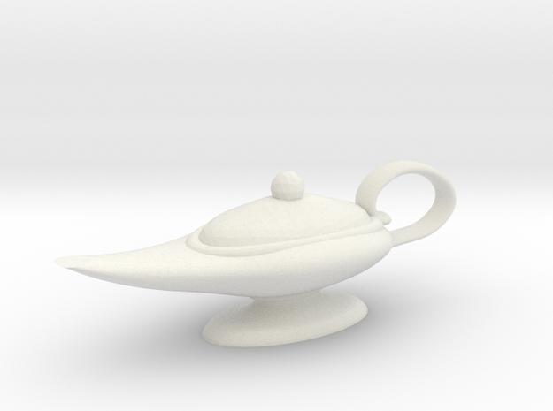 Oil Lamp Pendant in White Natural Versatile Plastic