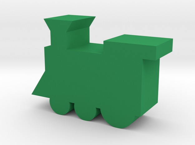 Train Game Piece in Green Processed Versatile Plastic