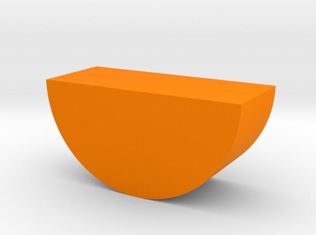 Orange Wedge Game Piece in Orange Processed Versatile Plastic