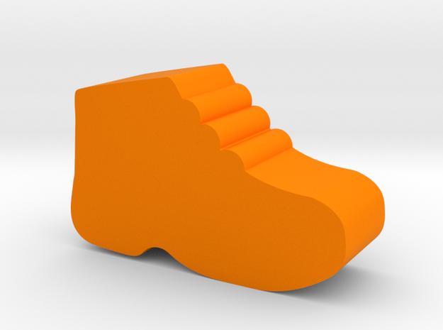 Shoe Game Piece in Orange Processed Versatile Plastic
