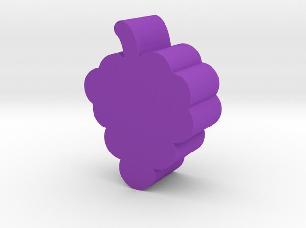 Grape Game Piece in Purple Processed Versatile Plastic