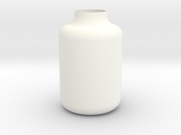 Jug Vase in White Processed Versatile Plastic