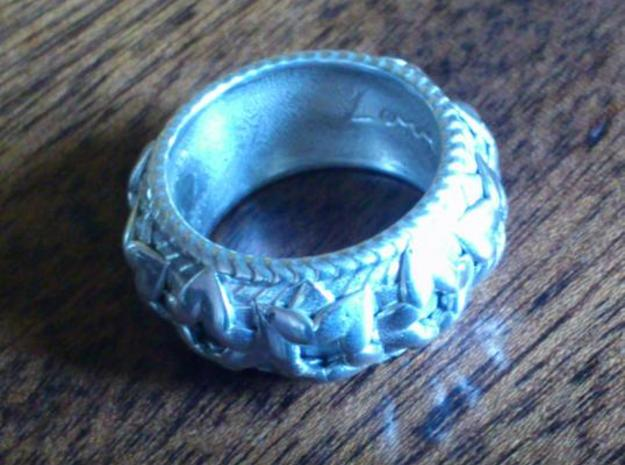 T's Ring V2 3d printed Polished silver
