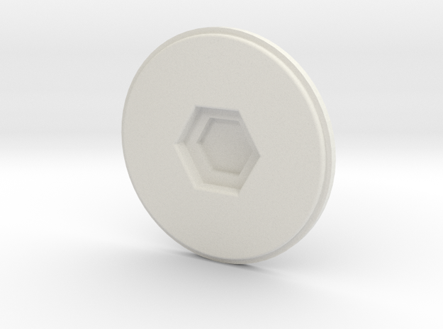 cup lid and cup pad in White Natural Versatile Plastic