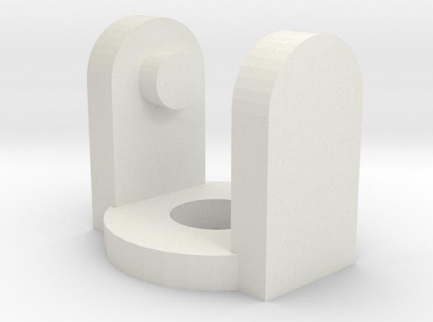 Bandai TECS D10 Pinchy Claw Arm Connector in White Natural Versatile Plastic