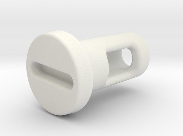 Rotary Kill Key - Style III in White Natural Versatile Plastic