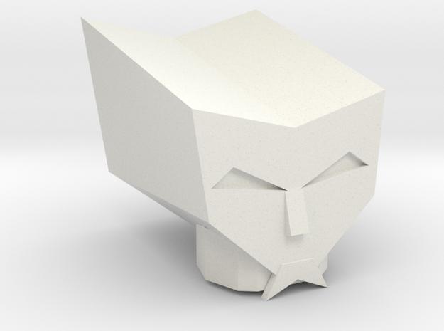 Kranix Head in White Natural Versatile Plastic