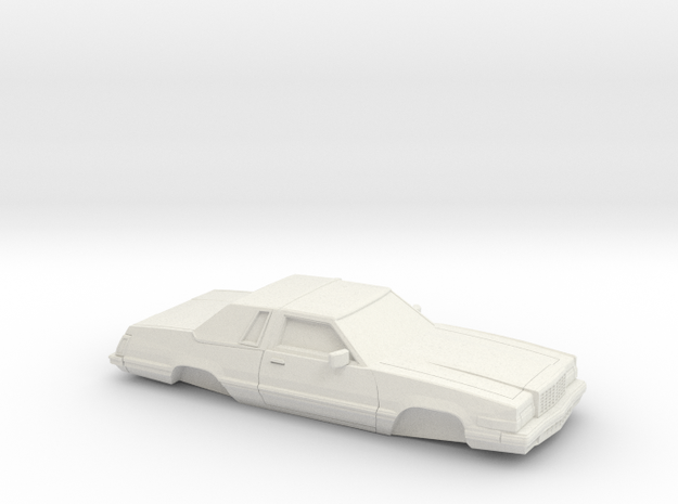 1/32 1980 Ford Thunderbird in White Natural Versatile Plastic