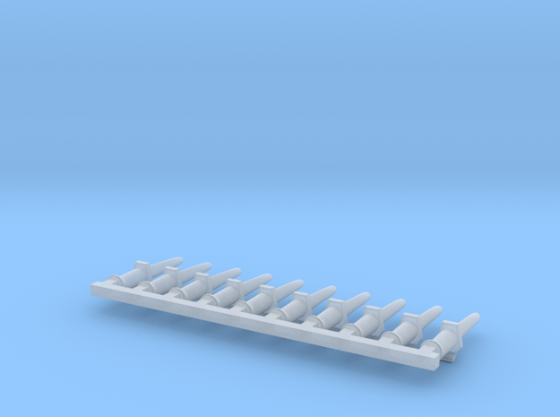10 x Bayonette without clip in Smooth Fine Detail Plastic