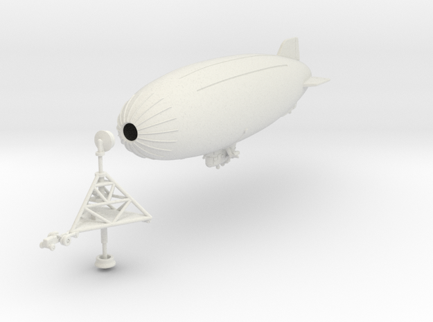 K Ship with Mast 1/500th scale in White Natural Versatile Plastic