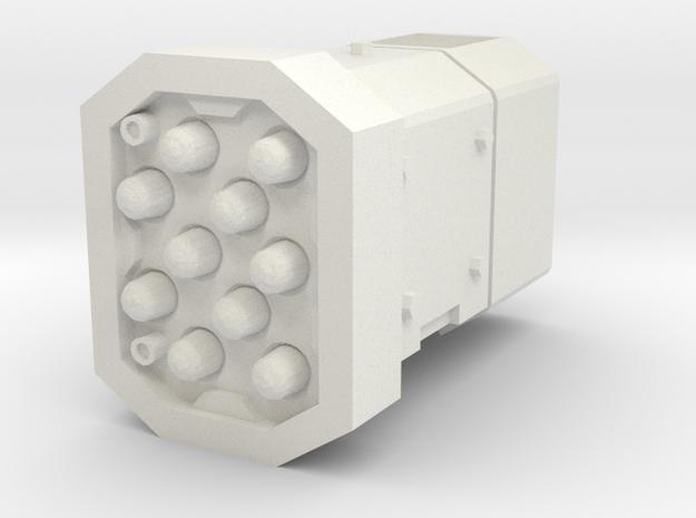 MK1 Shrike Turret Round missile pod Right in White Natural Versatile Plastic