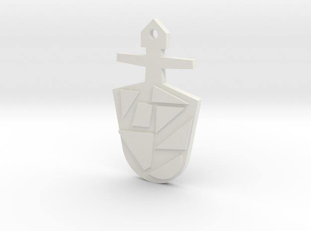 The Eighth Doctor's TARDIS Key in White Natural Versatile Plastic: Medium