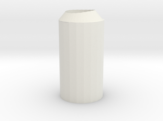 Exhaust Water Bottle in White Natural Versatile Plastic