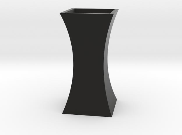 Curved Flower Vase - Black in Black Natural Versatile Plastic