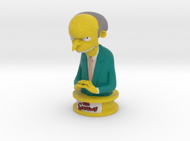 The Simpsons Mr Burns in Full Color Sandstone