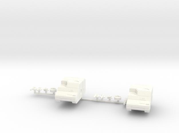 Two Marauder Tank in White Processed Versatile Plastic