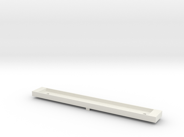 NCTC - Comeng T Car Dummy Chassis - N Scale in White Natural Versatile Plastic