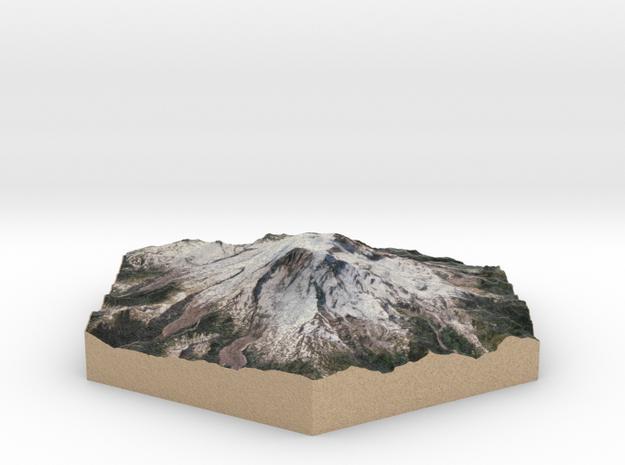 10cm Full-Color Model of Mount Rainier
