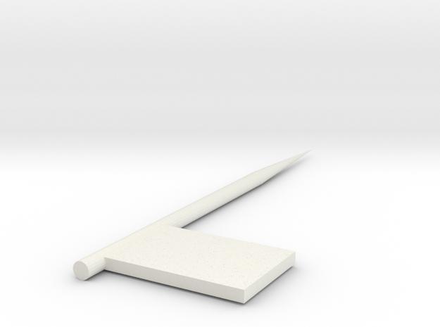 Flag fork in White Natural Versatile Plastic