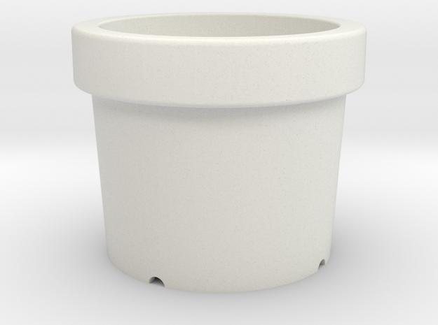 Small pots in White Natural Versatile Plastic