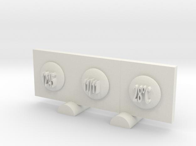 Clock in White Natural Versatile Plastic