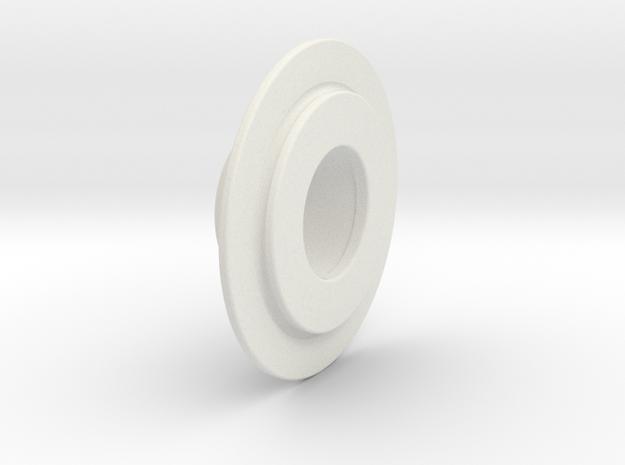 Buri Rear Belt Pulley Flange in White Natural Versatile Plastic