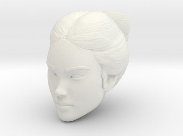 Female head in White Natural Versatile Plastic