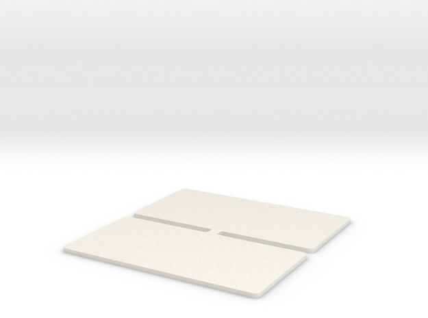 GBS Touring Car Wing Endplates in White Strong & Flexible