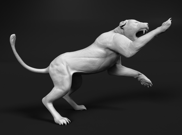 Lion 1:20 Striking Lioness in White Natural Versatile Plastic