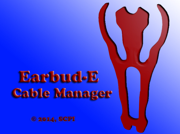earbud-E cord manager in Red Strong & Flexible Polished