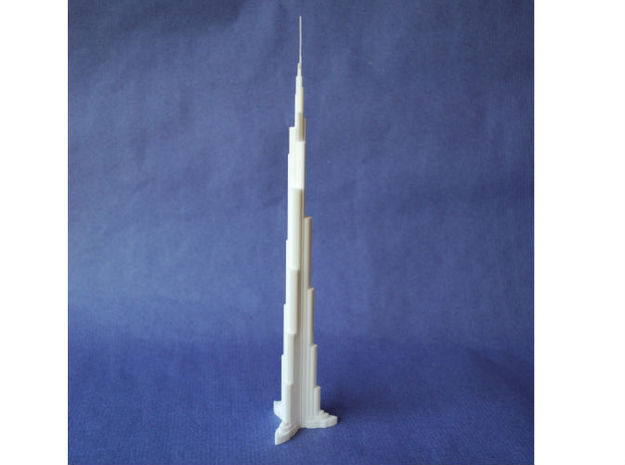 Burj Khalifa in White Natural Versatile Plastic