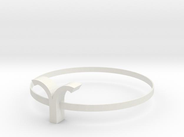 Aries necklace in White Natural Versatile Plastic