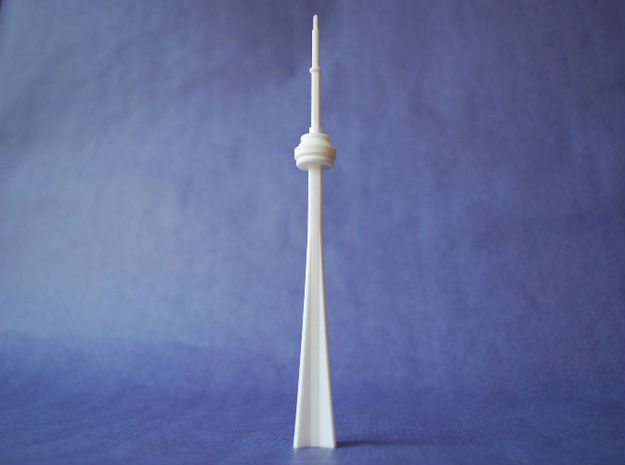 CN Tower in White Natural Versatile Plastic