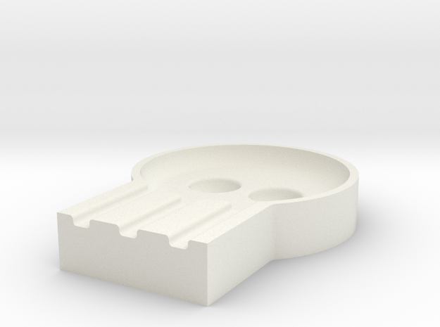 Ashtray in White Natural Versatile Plastic