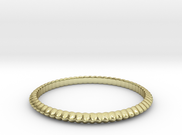 Wavy ring in 18k Gold Plated Brass