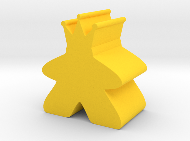 King Meeple King Sized in Yellow Processed Versatile Plastic