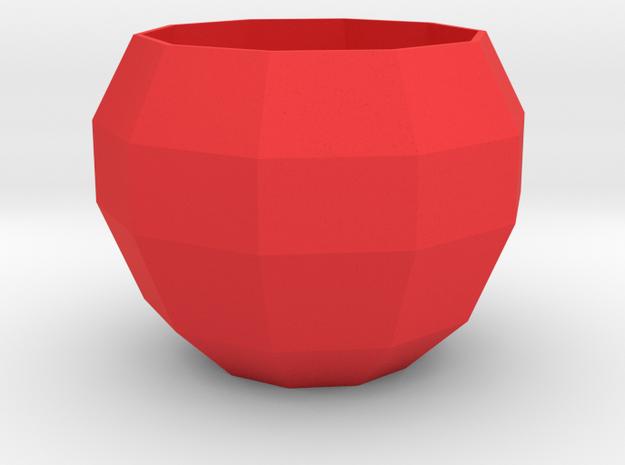 Faceted Apple Planter in Red Processed Versatile Plastic