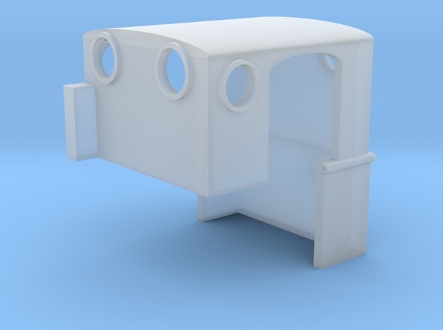 Dolgoch Cab with Curved Door in Smooth Fine Detail Plastic