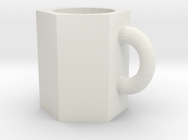 106102244Modeling cup in White Natural Versatile Plastic