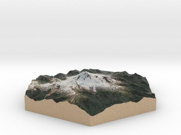 Model of Mt. Baker, WA (10cm, Full-Color) in Full Color Sandstone