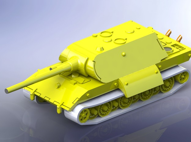 E-100 Heavy Tank Maus-Turret Variant 1/285 6mm 3d printed Add a caption...