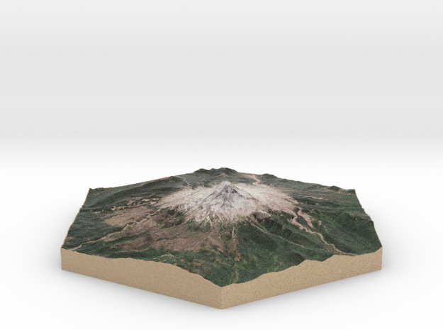 10cm Full-Color Model of Mount Hood