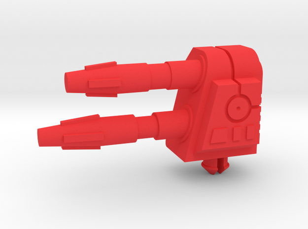 Missile Fox Cannon LH in Red Processed Versatile Plastic