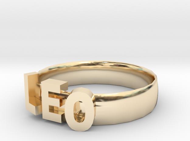 LEO Bracelets in 14k Gold Plated Brass