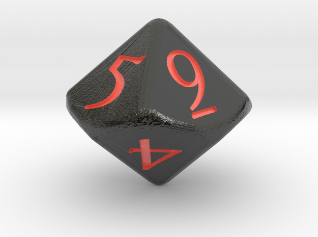 D10 D&D Dice in Glossy Full Color Sandstone
