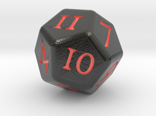 D12 D&D Dice in Glossy Full Color Sandstone